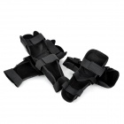 YW-021 Motorcycle Sports Knee + Elbow Protector Pad Guard Kit - Black (2 Pair)