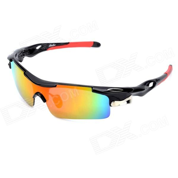 OREKA Fashion Sports REVO PC Lens Riding Sunglasses - Black + Red