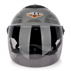 Cool Motorcycle Outdoor Sports Racing Helmet - Grey + Black (Size L)