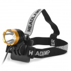 600lm 3-Mode White Crown Head Bike Light Headlamp - Black + Golden (4 x 18650)