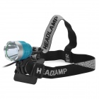 Cree XM-L T6 600lm 3-Mode White Crown Head Bike Light Headlamp - Blue + Silver (4 x 18650)