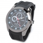 SINOBI 9042 Rubber Band Analog Quartz Wrist Watch for Men - Black (1 x 626)