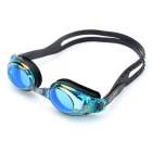 Stylish Anti-Fog PC Lens Swimming Goggles Glasses - Black