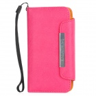 KALAIDENG Protective PU Leather Flip-Open Case Cover w/ Card Slots / Hand Strap for Iphone 5 - Pink