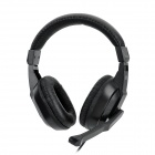 COSONIC CT-770 Stereo Headset Headphone with Microphone - Black (3.5mm-Jack)