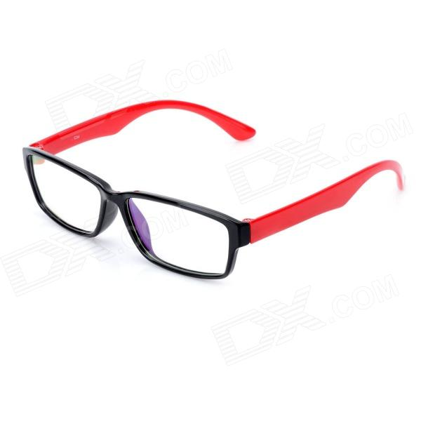 Stylish Anti-Radiation Anti-Fatigue Resin Lens Glasses - Black + Red anti fatigue 300 degree resin lens presbyopia reading glasses golden black