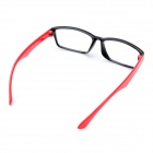 Stylish Anti-Radiation Anti-Fatigue Resin Lens Glasses - Black + Red