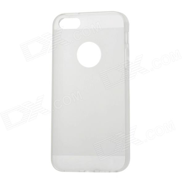 Protective Matte TPU Back Case Cover for Iphone 5 - Transparent White