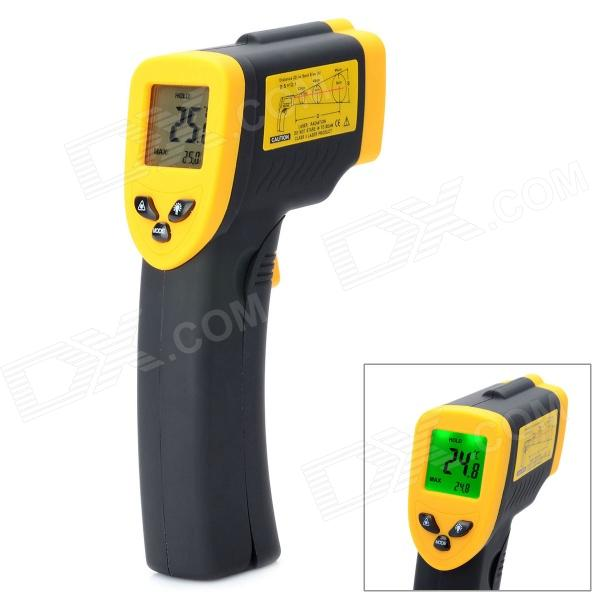 1.8 LCD Digital Screen -50'C to 500'C Infrared Thermometer - Black + Orange (2 x AAA) benetech gm320 1 2 lcd infrared temperature tester thermometer orange black 2 x aaa