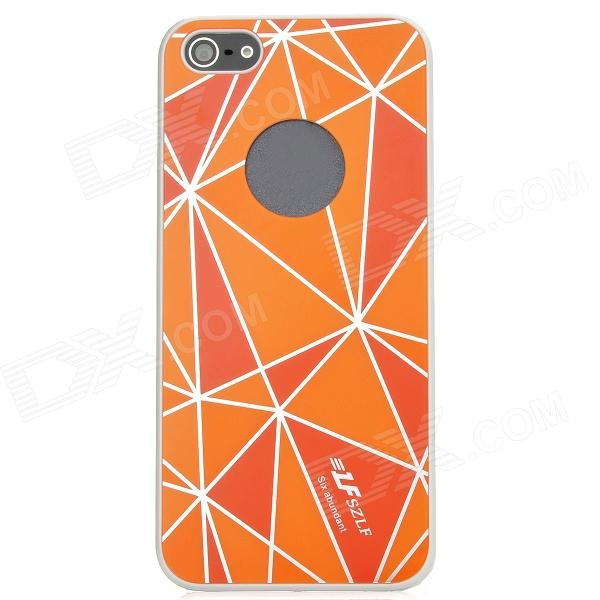 Protective Diamond Pattern Plastic Back Case Cover for Iphone 5 - Orange