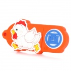 Rooster of Chinese Zodiac Style USB 2.0 Flash Drive - Red + White (8GB)