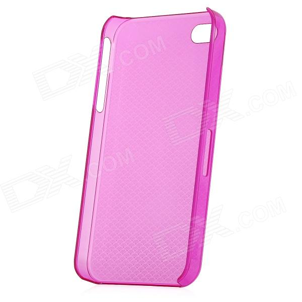 Protective Plastic Water Wave Back Case Cover for Iphone 4 / 4S - Purplish Red