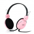 COSONIC CT-710 Stereo Headset Headphone with Microphone - Black + Pink (3.5mm-Jack)