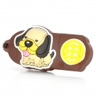 Dog of Chinese Zodiac Style USB 2.0 Flash Drive - Brown + Yellow (8 GB)