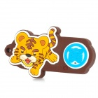 Tiger of Chinese Zodiac Style USB 2.0 Flash Drive - Brown + Yellow (8GB)