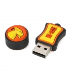 Aries Style USB 2.0 Flash Drive - Yellow + Orange + Black (8GB)