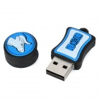 Taurus of Constellations Style USB 2.0 Flash Drive - White + Blue (8GB)