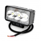 9W 660lm 3-LED White Light Vehicle Working Lamp / Party Hat - Black (DC 10-30V)
