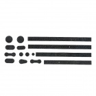 Decorative DIY Button and Edge Skin Sticker Set for Iphone 4 / 4S - Black