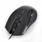 Newmen Leopard 5000 800 / 1200 / 1600CPI USB Optical Mouse - Black (165cm-Cable)