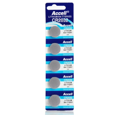 Accell CR2032 3V Lithium Cell Button Battery (5PCS)