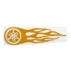 Hot Wheel Racing Motorcycle Reflective Sticker Decal - Golden