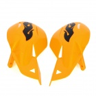 MP043 fresco Windproof da motocicleta guiador Guarda Protector - Laranja + Preto (2 PCS)