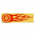 Hot Wheel Racing Motorcycle Reflective Sticker Decal - Orange