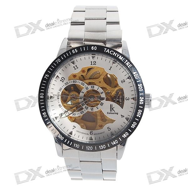 Stainless Steel Band Self-Winding Mechanical Wrist Watch