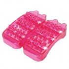 Rolling Ball Soles of Feet Massager - Deep Pink (Pair)