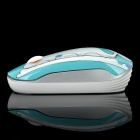 Newmen MS-278IR Whale Pattern 2.4GHz 1000CPI Wireless Optical Mouse - Blue + White (1 x AA)