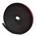 Vehicle Door Rubber Hollow Noise Insulation Strip - Black (4.3m)