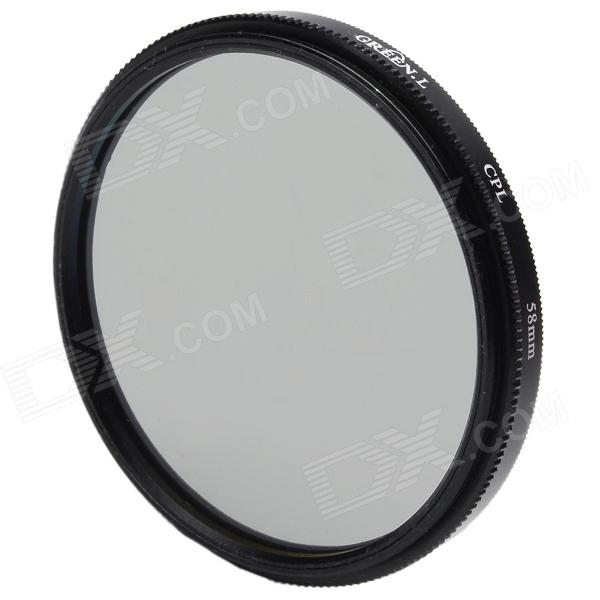 Premium CPL Camera Lens Filter (58mm)Lenses<br>Form  ColorBlackLens Diameter58mmPacking List<br>
