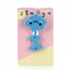 JD-1206 Cute Smile Cloud ABS + Rubber Earphone Cable Winder - Blue