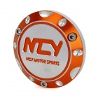 NCY Motorcycle DIY Aluminum Alloy Back Clamping Nut for Yamaha / Honda / Kimco - Orange + Silver