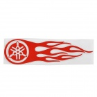 Hot Wheel Racing Motorcycle Reflective Sticker Decal - Red