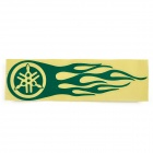 Hot Wheel Racing Motorcycle Reflective Sticker Decal - Green