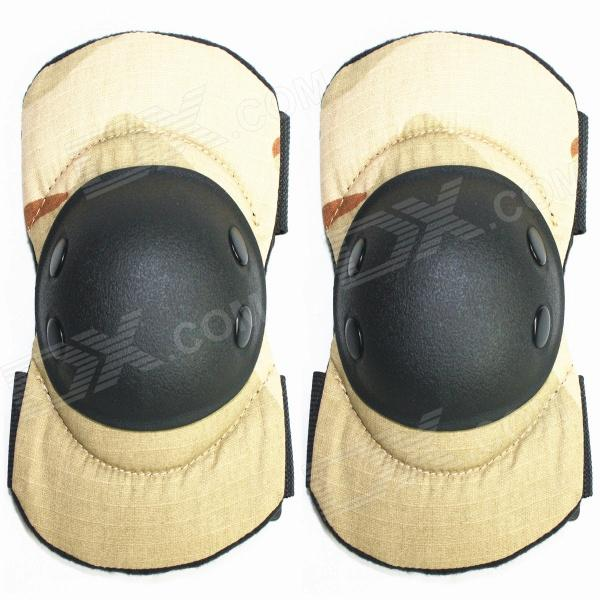 PANTHER Outdoor War Game Elbow Guards Protectors - Camouflage Khaki (Pair)