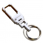 iwoo 053 Classic Luxury Simple Double Ring Quick-Release Keychain - Silver