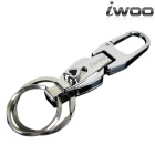 iwoo 028 Classic Copper Double Rings Quick-Release Keychain - Silver