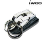 iwoo 022 Copper Double Rings Waist Belt Keychain - Black + Silver
