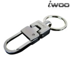 iwoo 015 Men's Simple Design Tin Alloy Quick-Release Keychain - Silver