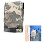 Stylish Water Resistant Fabric Cell Phone Case - Digital Camouflage Green
