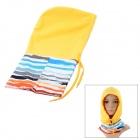 Stripe Pattern Outdoor Sports Fleeces Full Headgear Face Mask w/ Adjusted Strap - Multicolored