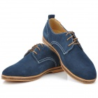 Suede Cow Leather Casual Shoes for Men (Euro Size 40)
