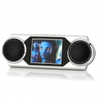 Stylish Portable 2.9&quot; TFT 260KP MP4 Player w/ Speaker / FM / TV-Out - Silver + Black (4GB)