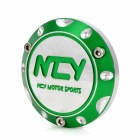 NCY Motorcycle DIY Aluminum Alloy Back Clamping Nut for Yamaha / Honda / Kimco - Green + Silver