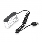 Retractable USB to 30-Pin / Micro USB / Mini USB / Nokia 2.0mm Data / Charging Cable - Black (75cm)