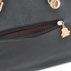 Paillette Shining PU Leather One Shoulder Hand Bag for Women - Black
