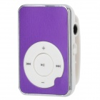 Aluminum Alloy Panel MP3 Player w/ TF - Purple + White